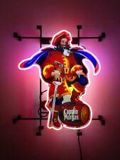 "Captain Morgan Rum Neon Lamp Sign 17""x14"" Bar Light Garage Cave Glass Artwork"