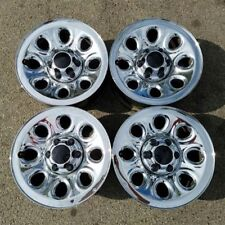 "17"" CHEVY SILVERADO SUBURBAN 1500 TAHOE 05-14 OEM CHROME STEEL Wheels Rims 5223"
