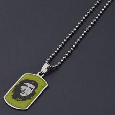 Punk Reggae Che Guevara Stainless Steel Celebri Charm Pendant Silver Necklace