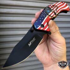 "8"" MTECH USA American Flag Punisher Skull SPRING ASSISTED Folding Pocket Knife"