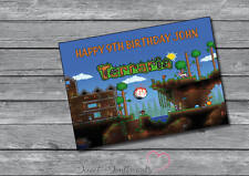 Personalised Terraria  Birthday Or Christmas Card - A5  Your Name And Age