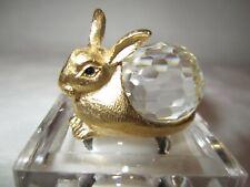 Swarovski Crystal Rabbit Figurine Gold Plated Easter Bunny