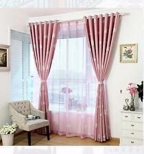 100x250cm Clouds Design Door Window Curtain Screen Sheer Valance Voile Pink