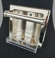 NEW Phylrich KR465-14 Polished Nickel Recessed Soap And Grab Bar in Box