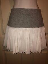 NWOT DEREK LAM 10 CROSBY Grey White Pleated Tennis Skirt Sz 0