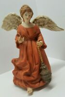 Vtg San Francisco Music Box Christmas Angel Figurine Come All Ye Faithful Rare