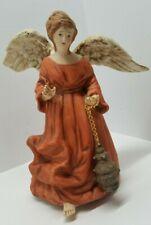 Vtg San Francisco Music Box Christmas Angel Figurine Come All Ye Faithful Rare