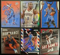 Lot of (6) Russell Westbrook, Including 2014 Prizm silver, Prizm RWB & inserts