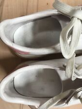 Louis Vuitton Trainers Size 37-38 Used White Leather  With Pink Embroidery