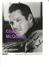 CHAD MCQUEEN STEVE MCQEEN 'S SON GENUINE IN PERSON AUTOGRAPH ORIGINAL 8x10 PHOTO