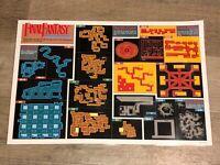 Final Fantasy Dungeon Map + Item & Magic Chart Nintendo Nes Laminated Authentic