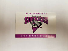 Dallas Sidekicks 1994 CISL Indoor Soccer Pocket Schedule - Pelican Press