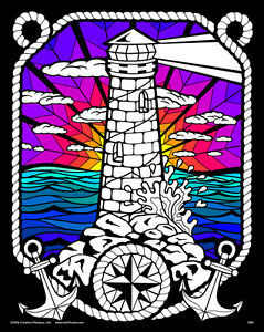 Lighthouse - Large 16x20 Inch Fuzzy Velvet Coloring Poster