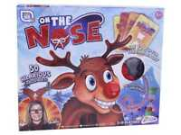 On The Nose Christmas Family Challenge Game Rudolph Spinner Funny Xmas R01-0494
