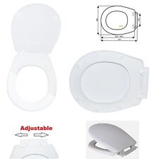 Universal Oval Shape Adjustable Toilet Seat white WC Including Fittings S12
