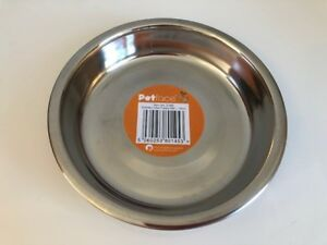 Shallow Stainless Steel Cat / Dog Bowl