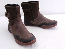 MERRELL Albany Sky Womens 7 Waterproof Espresso Brown Suede Ankle Boots Booties