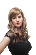 SUPERBE bouclé PERRUQUE pour femme long naturel blond Châtaigne 3405-14