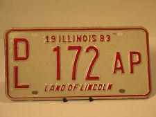 1983 Dealer License Plate DL 172 AP Illinois Truck Car Low Number