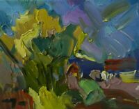 JOSE TRUJILLO - OIL PAINTING Impressionism MODERN FAUVISM - ABSTRACT 8x10