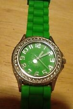 Vintage Gemmed ladies watch, running with new battery NR A