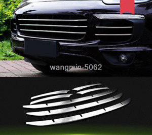 Stainless steel Front Grilles Grill Decorate Trim For Porsche Cayenne 2015-2017