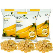 Dried tropical crispy Banana Chips Fruit no sugar natural thai delicious snack