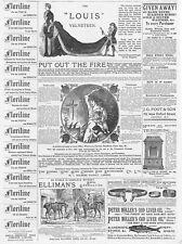 Annonces victorienne, huile de foie de morue, à la grenade extincteur-OLD PRINT 1886
