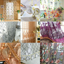Printed Net Voile Curtain Panel Home Decor Cafe Kitchen Blind Mothers Day Gift