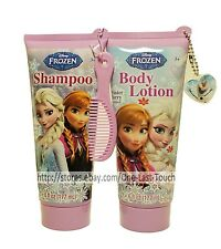 DISNEY FROZEN 4pc Hair & Body Set WINTER BERRY Shampoo & Lotion CHARM+MINI COMB