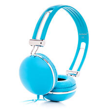 Childs Kids Boys Girls Blue Over Ear Headphones Earphones Lightweight PC MP3 DVD
