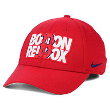 Boston Red Sox Nike MLB Verbiage Logo Flex Cap Hat Unisex Baseball Swoosh L/XL B