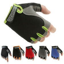 Men Women Sport Cycling Half Finger Gloves Gym Fitness Weight Lifting Wrist Wrap