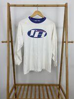 VTG Tommy Hilfiger Boy's TH Boardsports Ringer Long Sleeve T-Shirt YOUTH XL USA