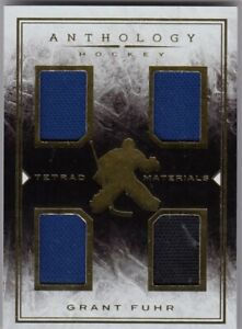 GRANT FUHR  QUAD JERSEY TETRAD MATERIAL( 175/199 ) in ANTHOLOGY HOCKEY 2014-15 a