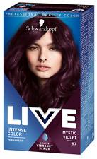 4 X Schwarzkopf Live Intense Hair Colour  087 Mystic VIOLET Permanent Colour
