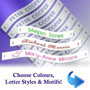 Name Labels - Woven Sew-in School Name Tags - 36, 72 or 144 Name Labels