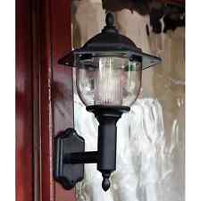 SOLAR POWER DEL VICTORIAN WALL LIGHT LAMP LANTERN GARDEN PATIO DOOR SLWALL2