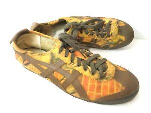 ONITSUKA Asics TIGER HL405 US 10.5 EUR 44.5 Brown Orange Graffiti Sneaker Shoes