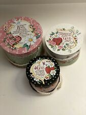 """Mary Engelbreit """"Love� Set Of 3 Boxes. New"""