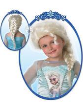 Child Disney Elsa Wig Outfit Fancy Dress Frozen Fairytale Book Week Princess New