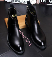 Mens British style Pu Leather Ankle High TOp Boots Chelsea Boots  zip shoes Hot