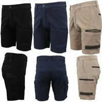 Men's Cargo Work Shorts Cotton Drill UPF 50+ 13 Pockets Builder Tradies Workwear