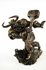 Mächtiger Thor, Gott des Donners, bronziert BRONZEFIGUR FIGUR DEKOFIGUR DEKO