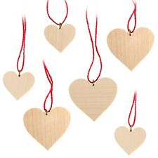 Tree Trunk Hearts Natural Seiffen Erzgebirge Christmas Tree Ornaments Heart Wood