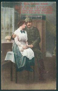 Preußen 3 Feldpostkarten in Farbe, dabei Lockstedter Lager 1916, Liebeskarten...