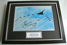 More details for mike bannister signed framed photo autograph 16x12 display concorde pilot & coa
