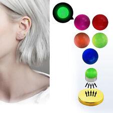 1-4PC 3mm Fake Magnet Glow In Dark Nose Ear Lip Stud Illusion Non Piercing Balls