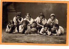 Studio Real Photo Postcard RPPC - Girls LHHS Basketball Team 1914