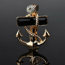 Pirate crystal Anchors Brooch Men's shirts Suit accessories hot free shipping